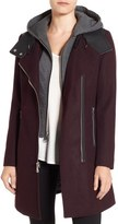 Andrew Marc Marc by Hooded Bib Front Boiled Wool Jacket