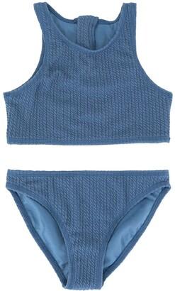 Duskii Girl Zoe zip bikini set