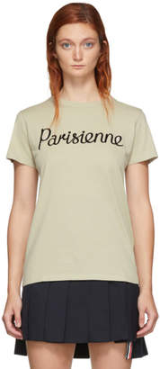 MAISON KITSUNÉ Beige Parisienne T-Shirt