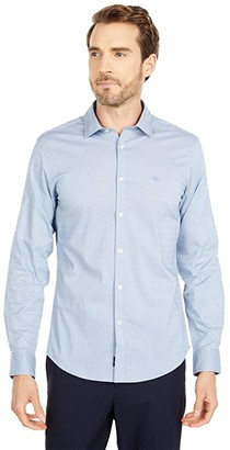 Dockers Long Sleeve Slim Fit Supreme Flex Poplin Shirt (Illusion Blue Pattern) Men's Clothing
