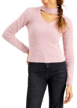 Planet Gold Juniors' Eyelash Choker Sweater
