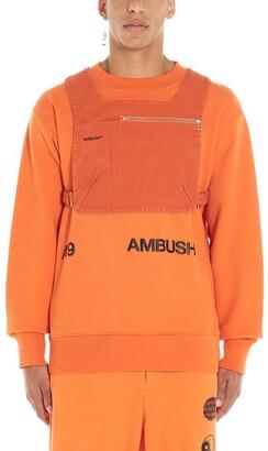 Ambush Logo Print Front Zip Chest Bag