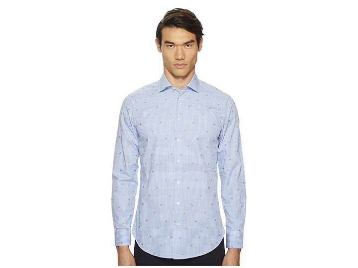 Etro Gingham Button Down Shirt Men's Long Sleeve Button Up