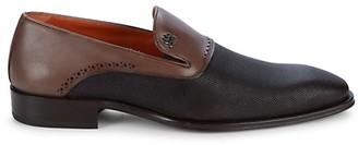 Mezlan Montfort Contrast Leather Loafers