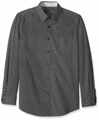 Ben Sherman Men's LS CHECKERBRD PRNT Shirt
