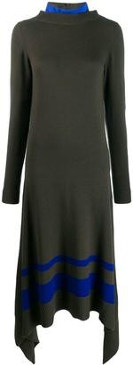 Sacai contrast panelled knit dress