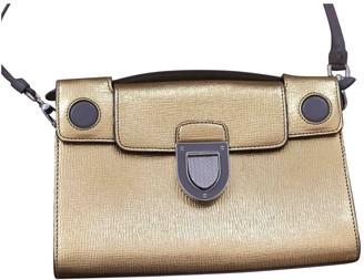 Christian Dior Diorever Gold Leather Handbags