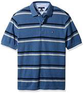 Tommy Hilfiger Men's Big and Tall Stripe Short Sleeve Polo Shirt