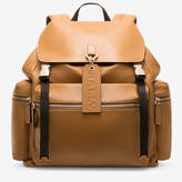 Bally Men's plain calf leather backpack in cowboy