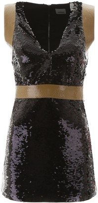 Burberry Tape Detail Sequinned Mini Dress