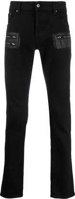 Just Cavalli Zip-Detail Fitted Jeans