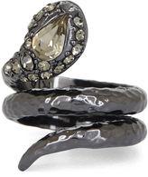 BCBGMAXAZRIA Hammered Snake Ring