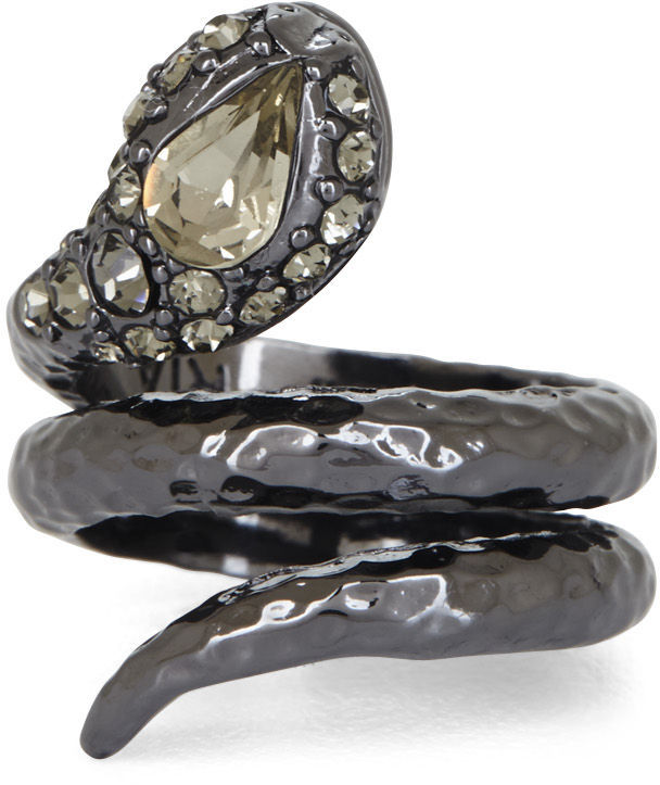BCBGMAXAZRIA Hammered Snake Ring