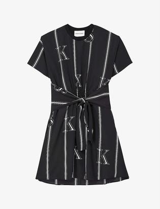 The Kooples Striped woven mini dress