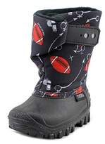 Tundra Teddy 4 Toddler Round Toe Synthetic Black Snow Boot.