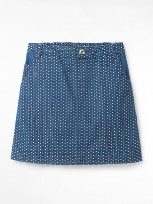 White Stuff Spot Dot Denim Skirt