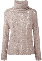 Woolrich turtleneck sheer sweater