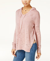 Ultra Flirt Ultraflirt by Ikeddi Juniors' Drop-Shoulder Hoodie Sweater