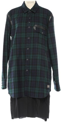 Undercover Green Wool Dress for Women
