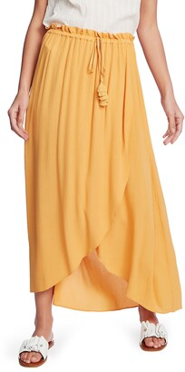 1 STATE Wrap Front Crinkle Gauze Maxi Skirt