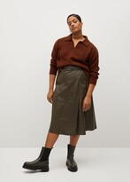 Thumbnail for your product : MANGO Cut-out faux-leather skirt