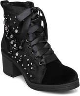 Madden-Girl Veera Velvet Combat Boot - Women's