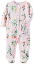 Carter's 1-Pc. Floral-Print Footed Coverall, Baby Girls (0-24 months)