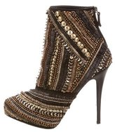 Barbara Bui Embellished Round-Toe Ankle Boots