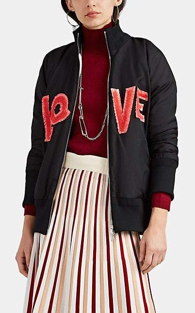 "Moncler 2 1952 Women's Lacaire ""Love"" Twill Bomber Jacket - Black"