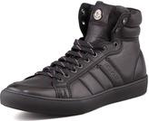 Moncler Lyon Leather High-Top Sneaker, Black
