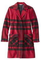 L.L. Bean Signature Ashland Wool Coat, Plaid