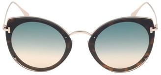 Tom Ford 63MM Cat Eye Metal Sunglasses