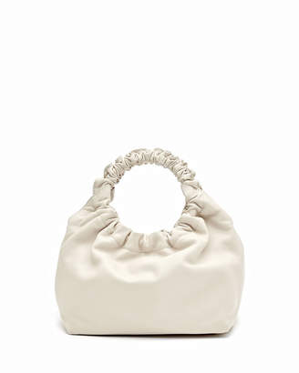 The Row Small Double Circle Bag in Napa Leather