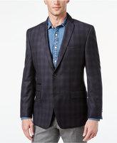 Andrew Marc Men's Slim-Fit Black Plaid Sport Coat