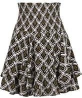 A.L.C. Vera Ruffled Printed Silk Crepe De Chine Mini Skirt