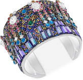 Swarovski Silver-Tone Multicolor Crystal Cuff Bracelet