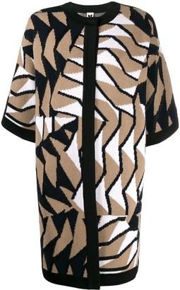 M Missoni Geometric Pattern Knitted Coat