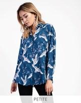 Glamorous Petite Oversized Patterned Shirt
