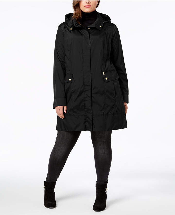 Cole Haan Plus Size Packable Unlined Raincoat