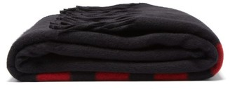 Calvin Klein Striped Wool-blend Blanket - Black