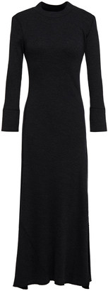 Theory Ribbed Wool-blend Midi Dress