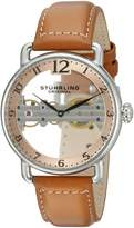 Stuhrling Original Men's 976.02 Bridge Analog Display Mechanical Hand Wind Brown Watch