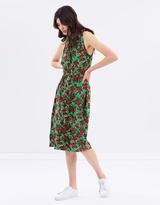 Warehouse Woodblock Daisy Maxi Dress