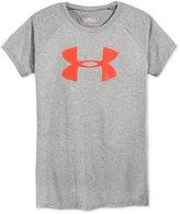 Under Armour Solid Color Logo Short Sleeve T-Shirt, Big Girls (7-16)