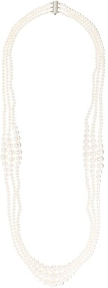 Yoko London 18kt white gold Ombre Freshwater pearl necklace