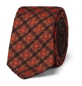 Prada 5cm Checked Silk and Wool-Blend Tie