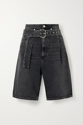 AGOLDE Reworked 90's Belted Denim Shorts - Black