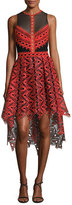 Jonathan Simkhai Lace & Organza High-Low Dress