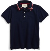 Gucci Boy's Ribbon Polo