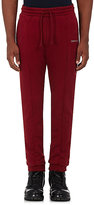 Vetements Men's Embroidered Terry Sweatpants-BURGUNDY